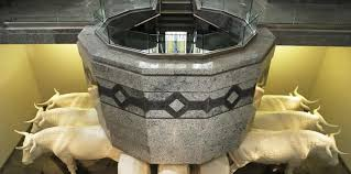 baptismal fonts why are baptismal fonts in temples usually built below ground
