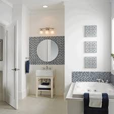 diy bathroom mirror white porcelain wall hung toilet black multi
