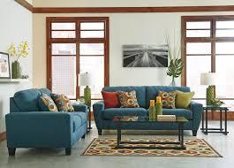Living Room Furniture Cleveland Sagen Teal Sofa Loveseat 93902 38 35 Living Room Groups