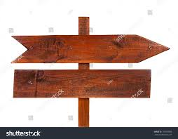 arrow sign board made out wood stock photo 103569386