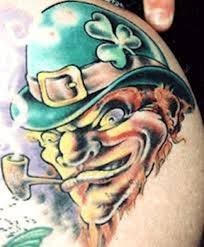 25 clover shamrock and leprechaun tattoo designs