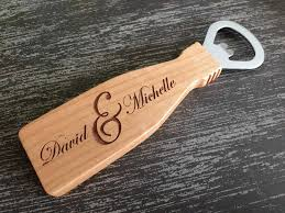 personalized bottle opener wedding favor engraved tag personalized favors magnetic wood openers magnetic
