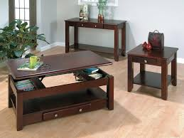 Living Room Side Table Living Room Brown Wooden Table With Shelf Opener And