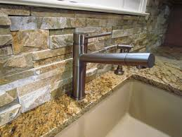 Stone Backsplashes For Kitchens by Natural Stone Backsplash For Nature Concept Kitchen Home Design