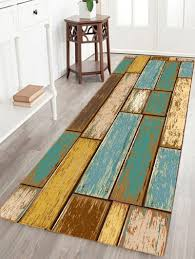 Wood Area Rug 2018 Vintage Wood Floor Pattern Water Absorption Area Rug Colormix