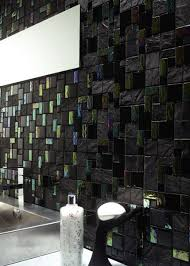 black glass tiles for kitchen backsplashes 82 best bathroom tile ideas images on bathroom ideas