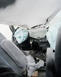 sombre images from inside the wreckage of car crashes so bad so good