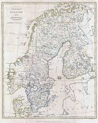 Old Map Of Europe by Large Detailed Old Map Of Scandinavia 1799 Baltic And