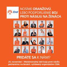 si e social orange enel combats violence against slovenské elektrárnenews