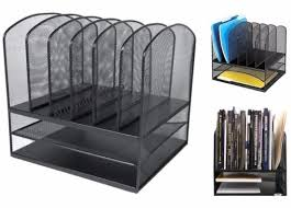 Desk Folder Organizer New Metal Paper Tray Office Mesh Desk Organizer File Storage
