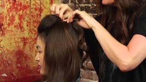 poof at the crown hairstyle how to pin your bangs back make a little poof mane street