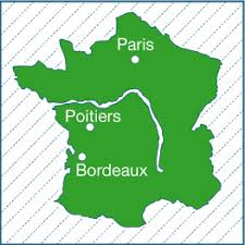 map of poitiers depicting poitiers