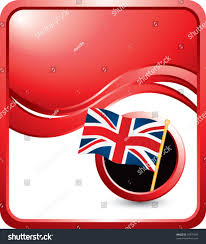 British Flag With Red British Flag Under Red Wave Background Stock Vector 39975493
