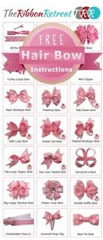types of bows chart bows chart hair bow and craft