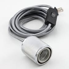 soho silver pendant light l cord w polished chrome