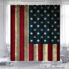 Shower Curtain Custom Vintage Usa Flag Fabric Custom Bathroom Shower Curtain Star
