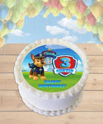 paw patrol choose dog edible image sheet cake topper