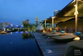 modern rooftop landscape design naumi hotel architecture design