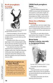 Utah Hunting Maps by 2010 Utah Big Game Guidebook