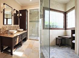 cool small bathrooms marble flooring tile in modern small bathroom also brown cabinet