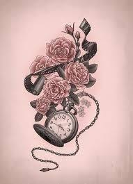 love the pocket watch for my alice in wonderland tattoo