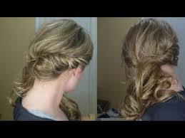front view of side swept hairstyles loose side swept curly hair youtube