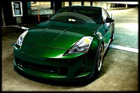 just got my car back from paint midnight pearl green my350z