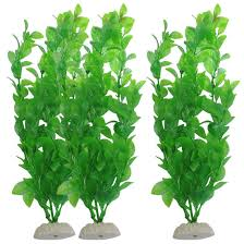 uxcell 3 fish tank artificial plants 10 6 inch