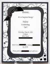 surprise birthday party invitation letter invitation card