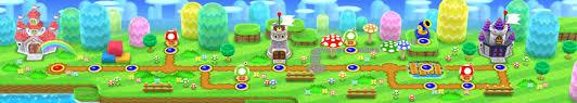 Super Mario World Level Maps by New Super Mario Bros 2 Nintendo 3ds
