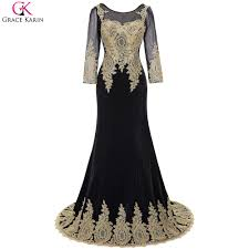 Black And Gold Lace Prom Dress Online Get Cheap Gold Lace Long Sleeve Prom Dress Aliexpress Com