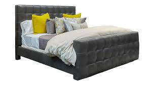 reata graphite king leather bed gallery furniture