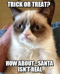 Trick Or Treat Meme - trick or treat grumpy cat meme on memegen
