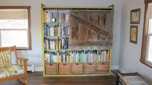 rustic room divider expedit bookshelf turned rustic tv cabinet bookshelf ikea