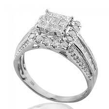 square cut rings images 1cttw princess cut diamond wedding ring 10k white gold large 10mm jpg