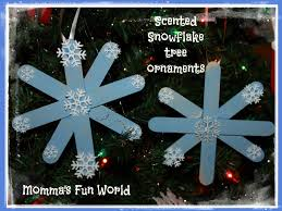 momma u0027s fun world scented snowflake tree ornament made with