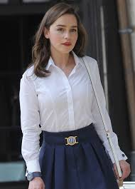 emilia clarke on the set of me before you in paris 06 19 2015