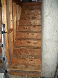 rebuilding basement steps sparrow u0027s ramblings