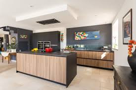 cuisine avec stunning cuisine noir mat et bois contemporary design trends