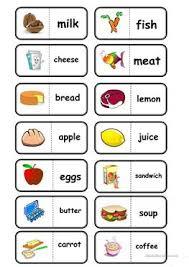30 free esl food cards worksheets