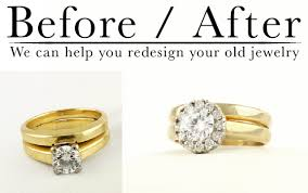 wedding rings redesigned redesigned halo ring miller s jewelry of bozeman mt