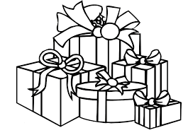 inspiring idea gifts coloring pages black and white cartoon