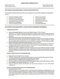 Non Profit Resume Samples Download 10 Samples Of Professional Resume Formats Esc