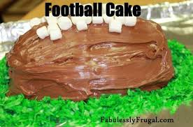 football cake football cake recipe recipes fabulessly frugal