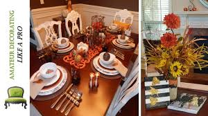 fall diy using leaves rustic thanksgiving tablescape w dollar