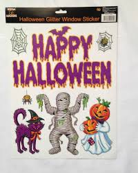 happy halloween glitter window stickers happy halloween creepy