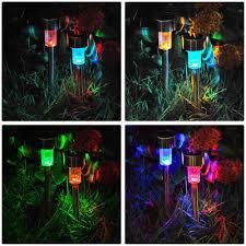 amazon com yescom 12pcs color changing solar powered led light