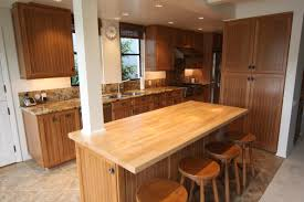 kitchen butcher block island beautiful cherry cabinets with clear satin lacquer finish maple