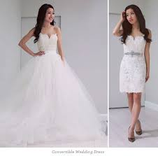 two wedding dresses 2 in 1 wedding dresses wedding dress styles