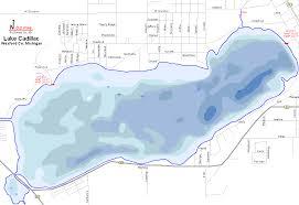 Printable Map Of Michigan by Lake Cadillac Map Wexford County Michigan Fishing Michigan